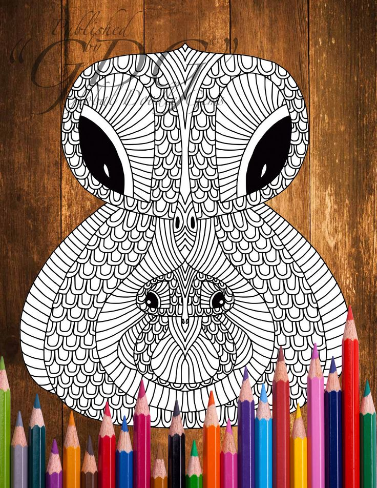 Weirdie 2_8 #Adult coloring page by AMVWART on Etsy