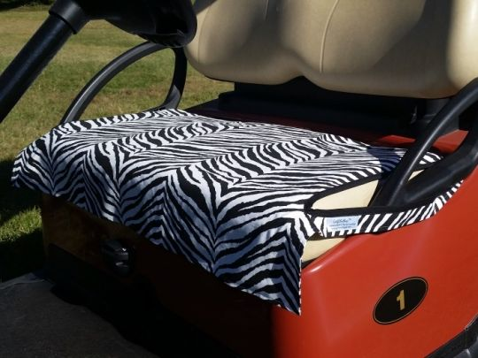 Zebra Print Golf Chic Bags Ladies Golf Cart Seat Cover! Find the best golf accessories at #lorisgolfshoppe
