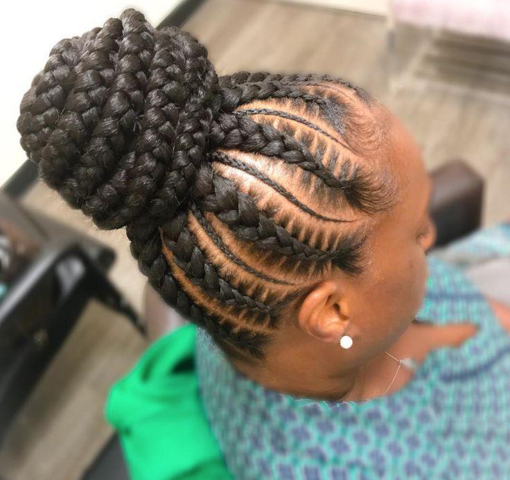 Flawless braided bun by @nisaraye - https://blackhairinformation.com/hairstyle-gallery/flawless-braided-bun-nisaraye/