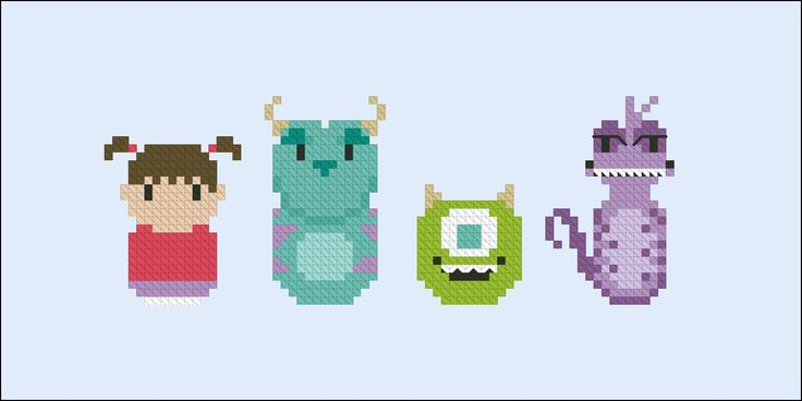 Monsters Inc. - Cross Stitch Patterns - CloudsFactory