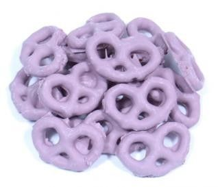 Raspberry Yogurt Pretzels - Purple Candy - Colors | Bulk Candy Store