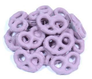 Raspberry Yogurt Pretzels - Purple Candy - Colors | Bulk Candy Store