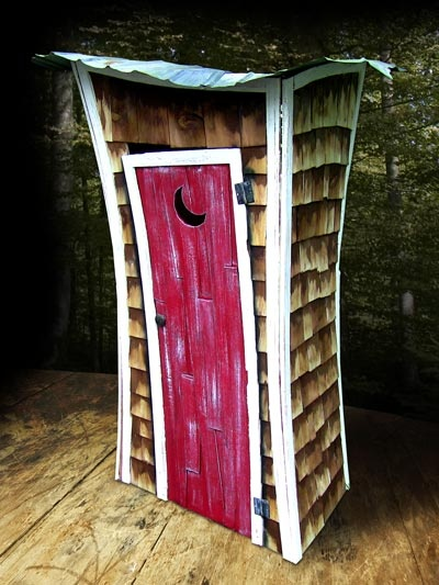 Potty #ExpediaWanderlust.  rustic outhouse