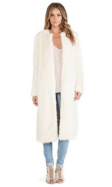 Shop for ashley B Long Faux Fur Coat in Ivory at REVOLVE. Free 2-3 day shipping and returns, 30 day price match guarantee.