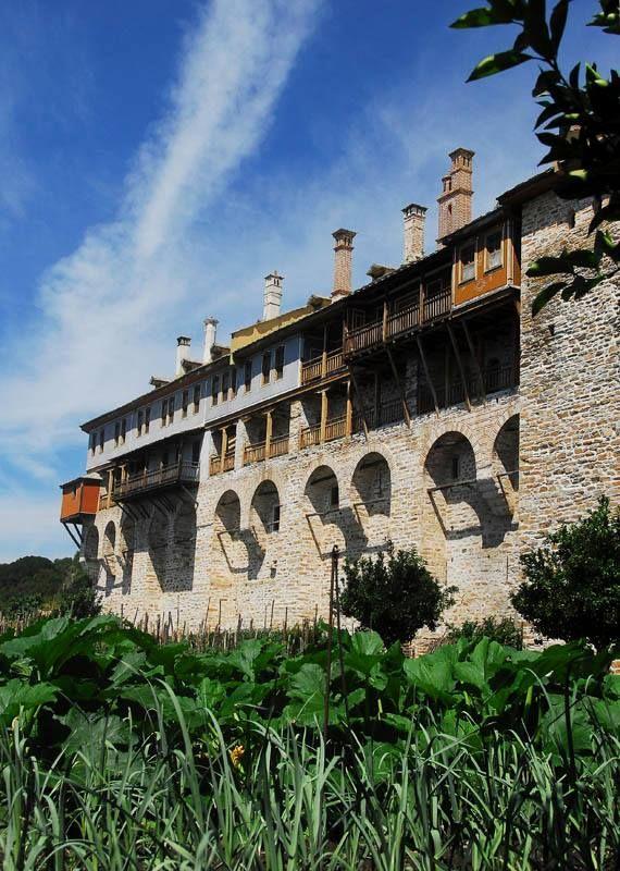 Μερική άποψη της Μονής Ξενοφώντος, Αγίου Όρους - Partial view of the Monastery of Xenophontos, Mount Athos