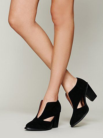 Deep V ankle boots