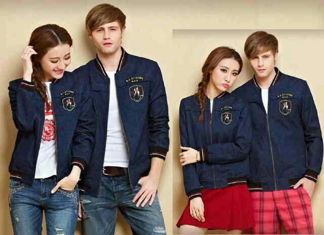 (READY lagi) Couple Jacket Soulmates,hrg 140rb@sepsng,bhn jeans garment aplikasi bordiran,ld 98 pjg 64,cowo 104 pjg 69,ada kantong,bisa muat sampe L