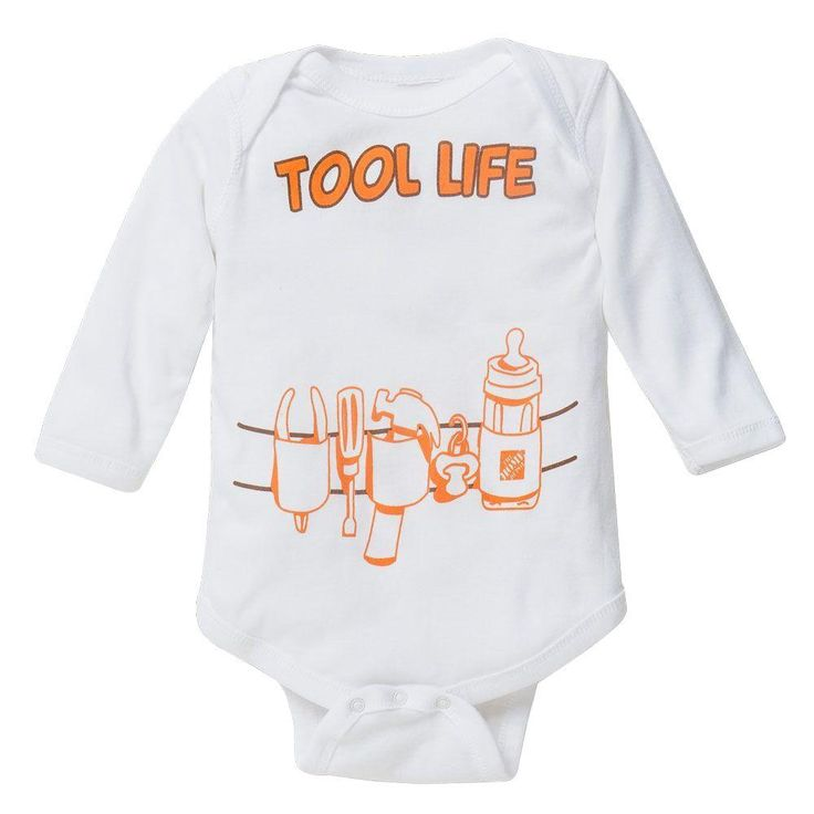 23 best home depot gear images on pinterest drink gift tags and start your kids off right and teach them their thds the tool life onesie sciox Choice Image