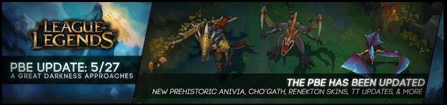 Prehistoric Anivia, Cho'Gath, Renekton Kostümleri