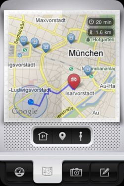 Parkbud App App #iPhone #buttons #icons #mobile #ui