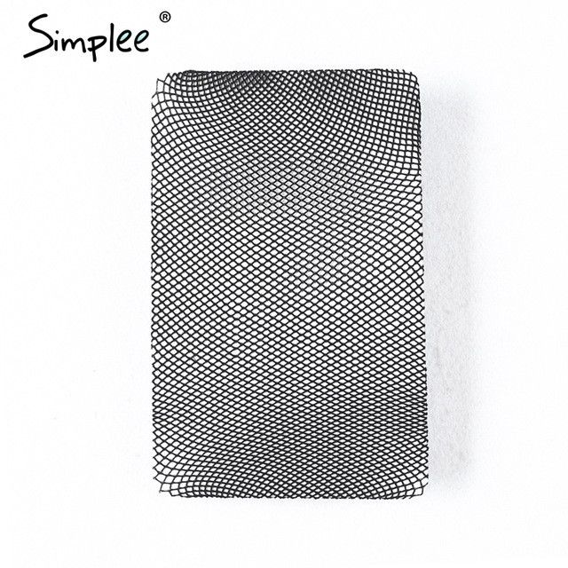 Simplee Hollow out sexy pantyhose female Mesh black women tights stocking slim fishnet stockings club party hosiery