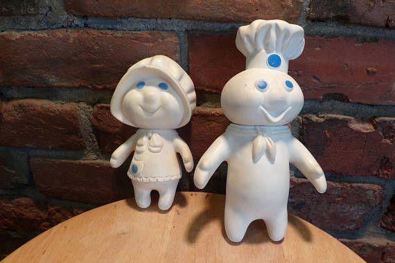 Vintage Pillsbury Dolls Pillsbury dough boy and girl 1970s
