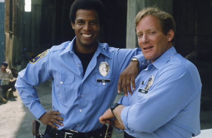 Charles Haid and Michael Warren in Hill Street Blues (1981)