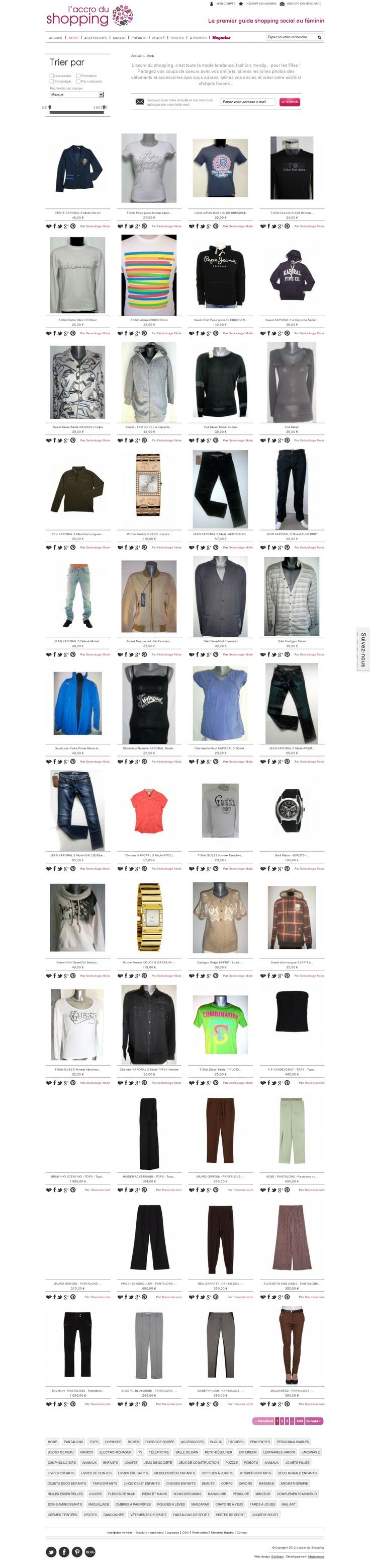 www.laccrodushopping.com  L'accro du shopping est LE guide shopping réservé aux filles ! Mode, déco, beauté, enfants, gourmandises...  Partagez, pinner et twittez vos envies !