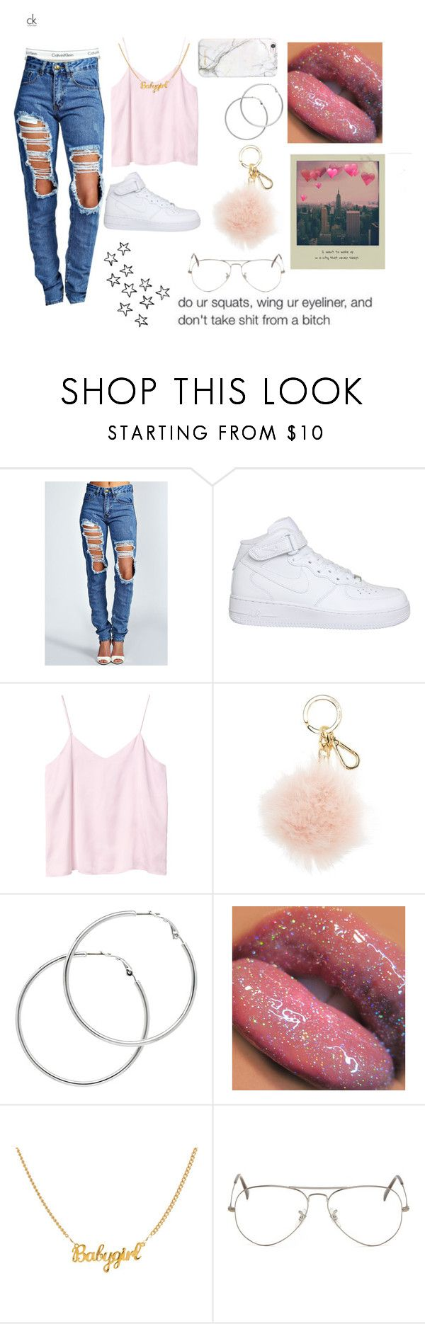 """Su Veneno"" by linagbotello on Polyvore featuring Calvin Klein, Boohoo, NIKE, Monki, MICHAEL Michael Kors, Melissa Odabash, Ray-Ban and russell+hazel"