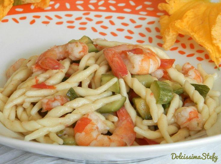 Trofie gamberetti e zucchine,ricetta semplice