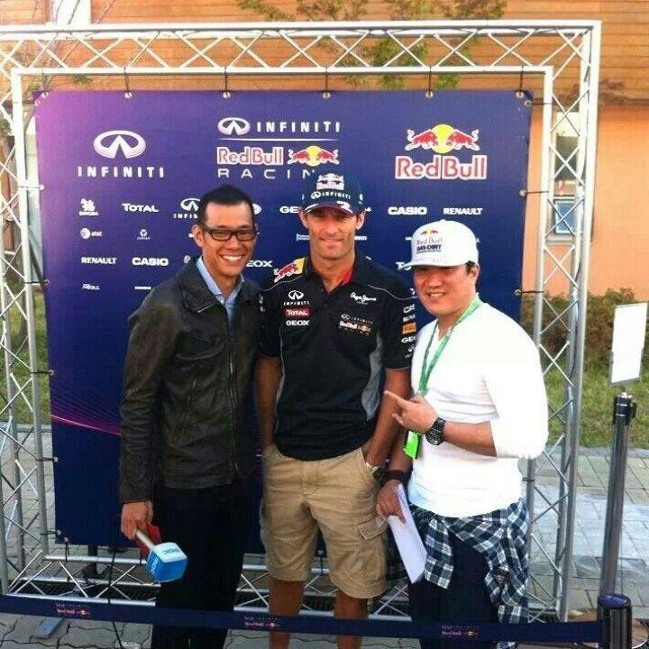 Mark Webber in Korea