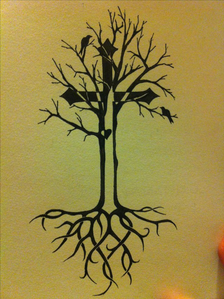 tree of life tattoo idea with celtic roots and cross tattoo ideas pinterest life tattoos. Black Bedroom Furniture Sets. Home Design Ideas