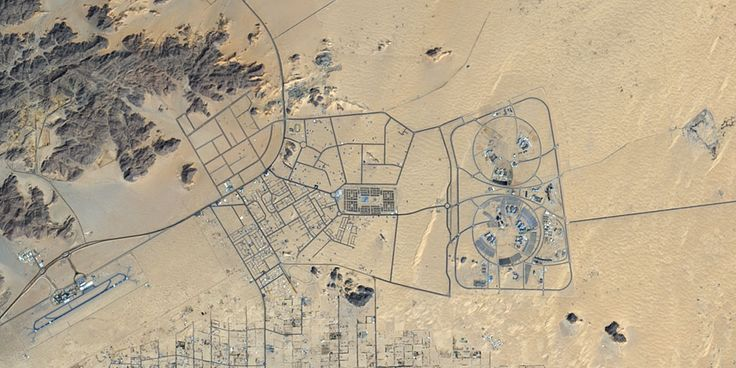 Najran University, in southwestern Saudi Arabia near the border with Yemen - PlanetSAT satellite image.