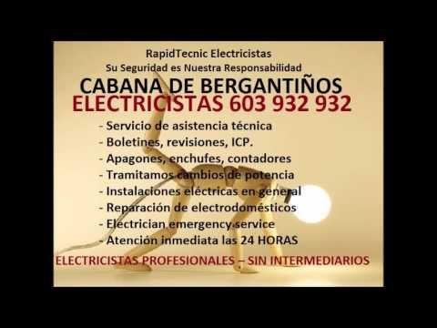 Electricistas CABANA DE BERGANTIÑOS 603 932 932 Baratos