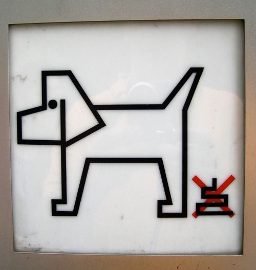 "Robot Dog Poo ""This photo was taken in Tokyo, Japan. It advises people to pick up their robot dog's poo."": Photo taken by Lucas Krull from United Kingdom."