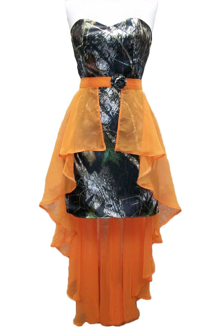 Sunvary Camouflage and Orange High Low Cocktail Prom Homecoming Dresses | Amazon.com