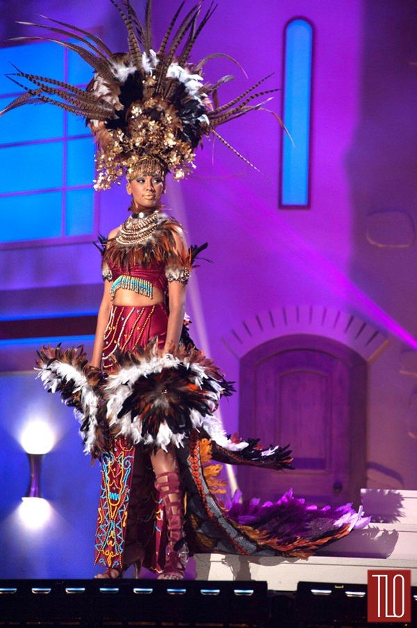 Miss Universe National Costumes 2014, Part 1: Bird Women & Show Girls! | Tom & Lorenzo Fabulous & Opinionated / Miss Malaysia