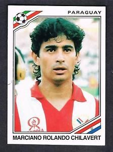 Image result for mexico 86 panini paraguay chilavert