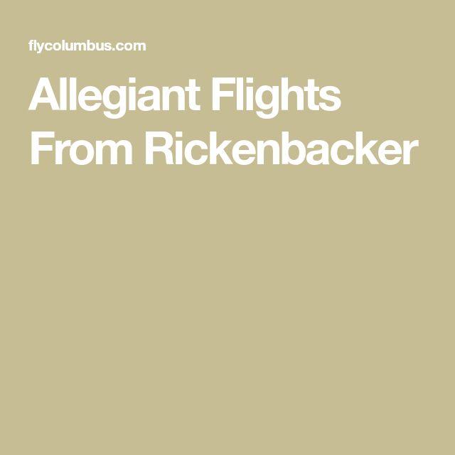 Allegiant Flights From Rickenbacker