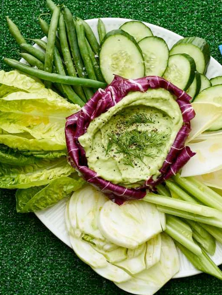 It may be winter, but your Purim will be bright and fresh with this display of fresh vegetables and dip! Learn how to make this Green Goddess Dip and Crudités! http://www.joyofkosher.com/recipes/green-goddess-dip-and-crudites/