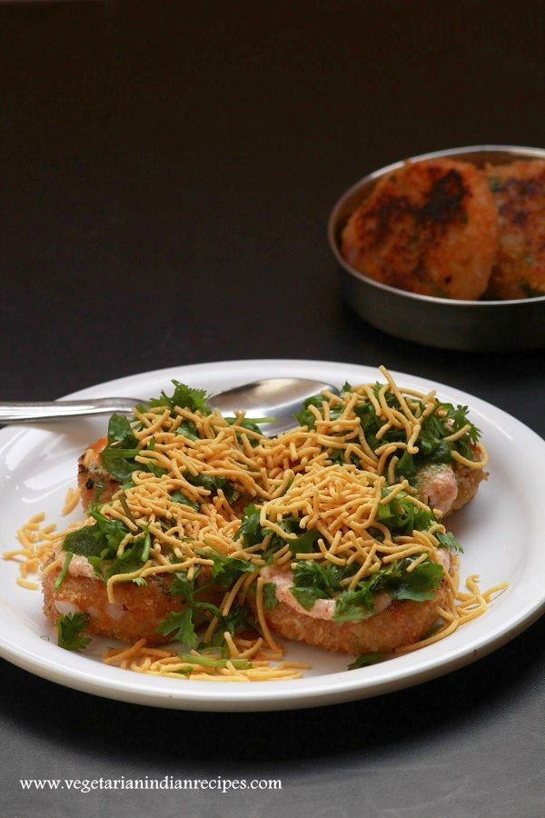 163 best indian street food and chaats images on pinterest indian aloo tikki chaat easy indian chaat recipe made with aloo tikki very easy to forumfinder Images
