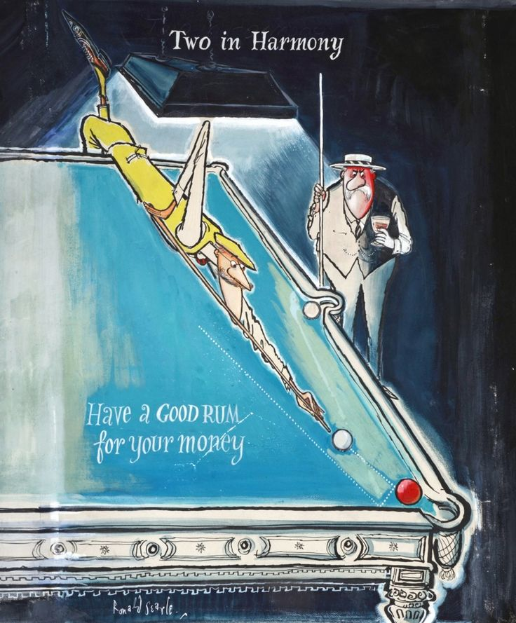 A good rum for your money – Ronald Searle