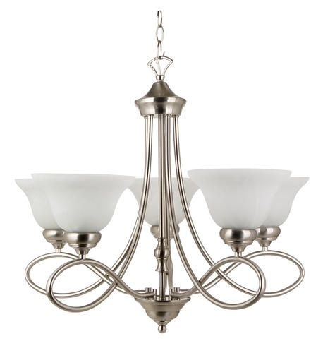 Menards Indoor Wall Sconces : USD 79 thru 12/4 Rianto 5 Light Chandelier-Brushed Steel Finish* (http://www.menards.com/main ...