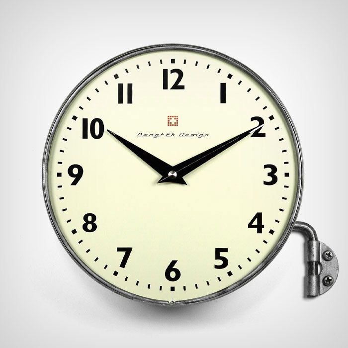 Wall clock made in zinc with swinging arm - Bengt Ek - Bengt Ek Design - RoyalDesign.com Bengt Ek Design