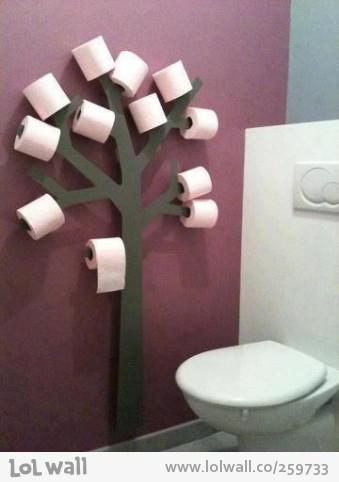 Toilet Paper Tree Holder I really want to make this. It's cute in away