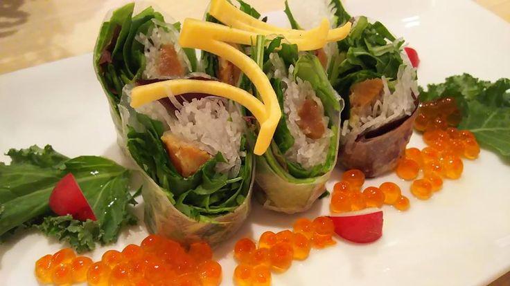 有機野菜と鯖の糠漬けの和製春巻き