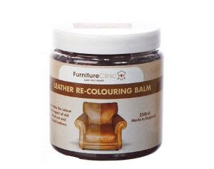 Leather Re-Coloring Balm.  Restores the colour to faded and worn leather