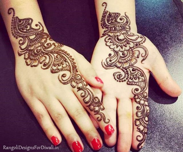 Arabic Eid Mehndi Designs 2015 For Girls