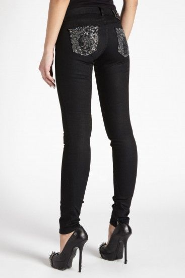 Philipp Plein Skull pocket print jeggings