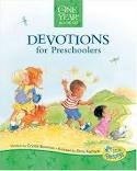 Colorful daily devotions that are relevant to toddlers that include a Bible verse, story and short prayer.