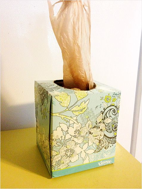 Use your old tissue boxes to store plastic bags... they work perfectly to disperse one at a time! + 59 Other New Uses For Everyday Items