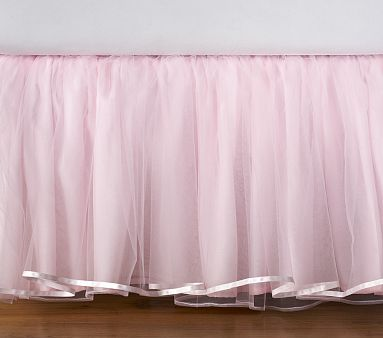This would be PERFECT for Lizzie - first of all its the Elizabeth bed skirt, second its pink and its tulle, unfortunately its also $150 from pottery barn - yeesh! Maybe I can figure out how to make it