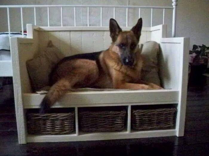 Hondenmand Steigerhout Renz Wood Pinterest