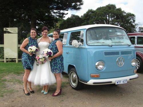 Celia and her bridesmaids with George #kombilove #wedding #Melbourne