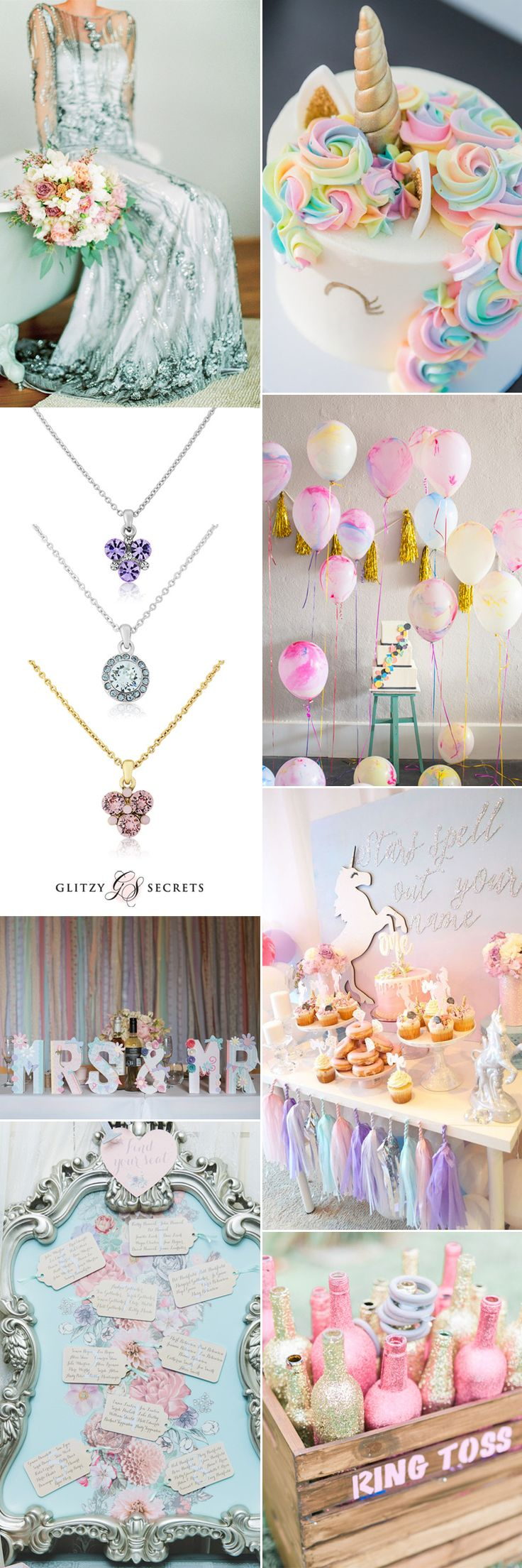 Magical pastel unicorn wedding ideas on GS Inspiration - Glitzy Secrets