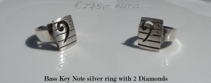 Bass key note silver ring