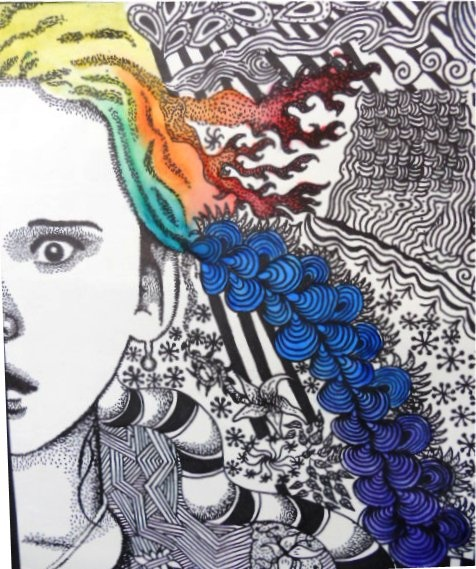 "Morgan Behrmann ""Wistful Daydreaming"" Grade 8 Clearwater Arts Alliance-March is Youth Art Month K-8"