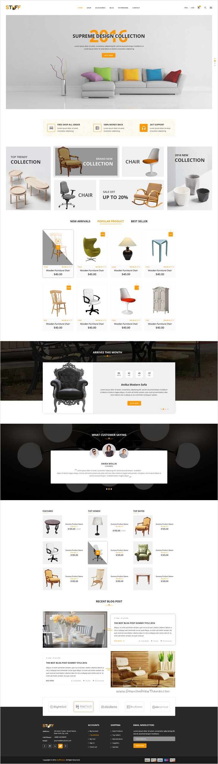 Stuff is a beautifully design premium #PSD Template for #Furniture #shop eCommerce website download now➩ https://themeforest.net/item/stuff-furniture-ecommerce-psd-template/18411293?ref=Datasata