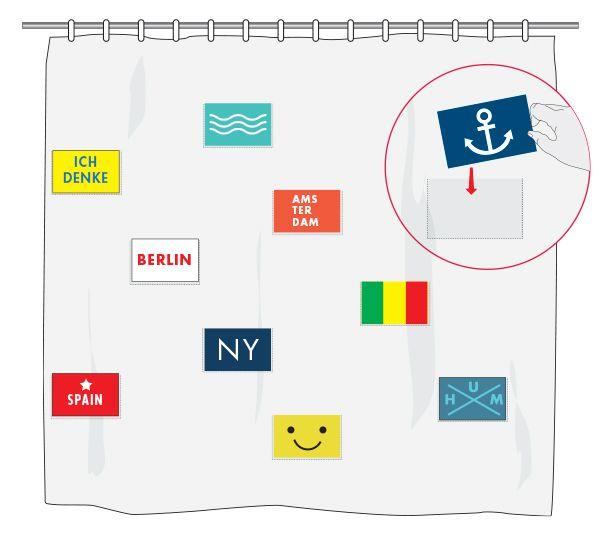 Hágalo Usted Mismo - ¿Cómo hacer una cortina con portaretratos para baño?