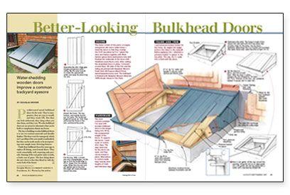 Better Looking Bulkhead Doors. Basement ...